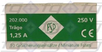 G-Sicherungen T 1,25 A