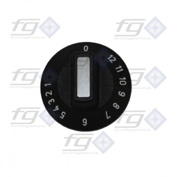 Knob for hot plate thermostats