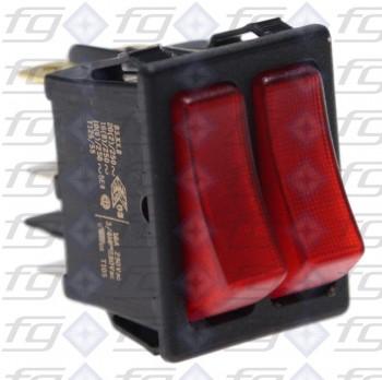 Doppel-Wippenschalter 2 X 1-polig