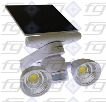 Solar-LED-Doppel-Außenstrahler mit Bewegungs- / Lichtsensor