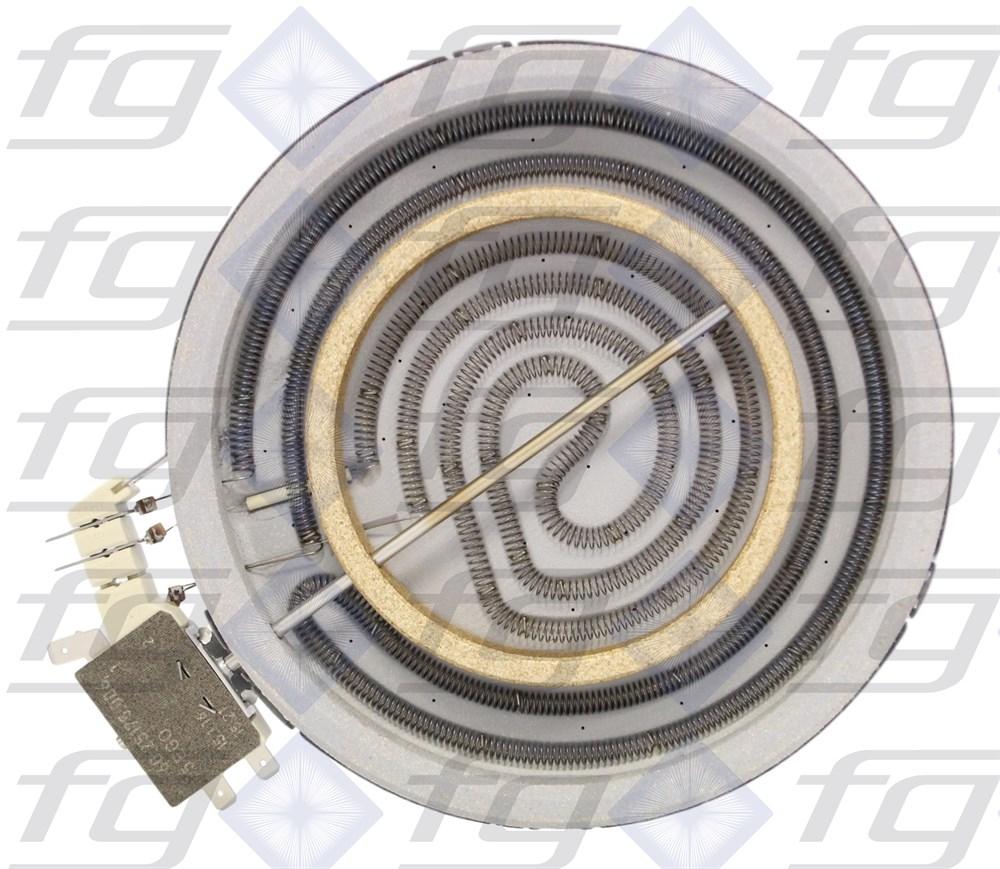 10 78661 004 E G O Zweikreis Strahlungsheizkorper 1700w 600w