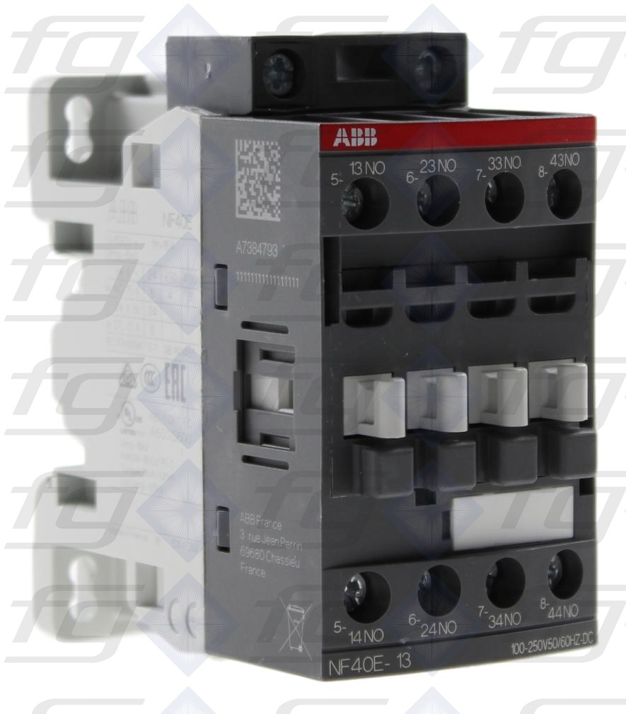 Auxiliary Contactor Abb Nf40e 13 417550 Under Current Relay