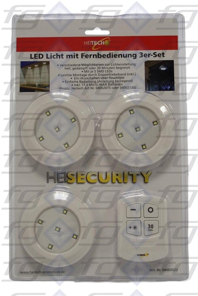 led licht mit fernbedienung 3er set 417963. Black Bedroom Furniture Sets. Home Design Ideas
